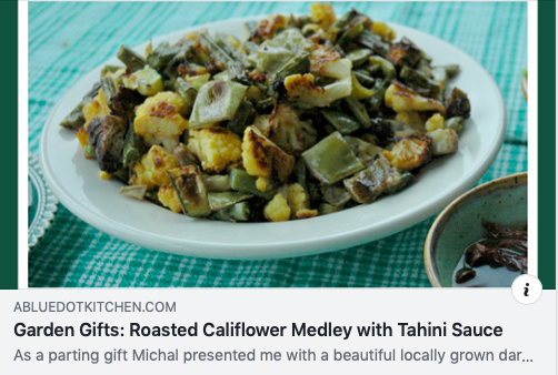 Recipe  Roasted Califlower and tahini